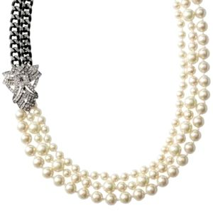 Stella and Dot Daisy Pearl Necklace